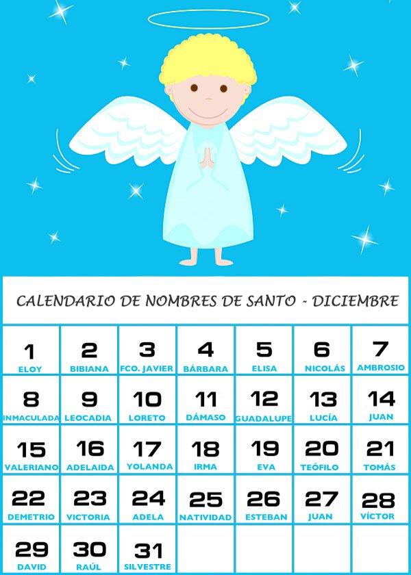 Días de santos de Diciembre