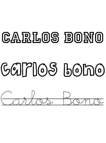 Nombres para niños. Carlos Bono