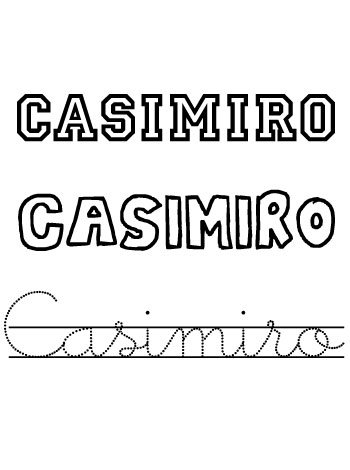 Nombres para niños. Casimiro