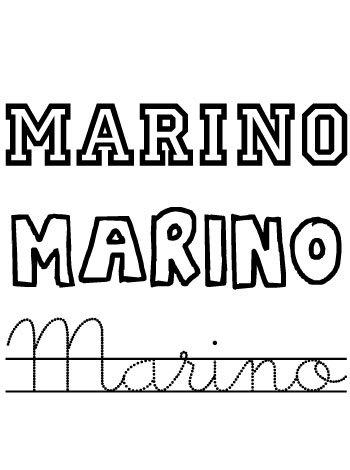 Nombres para niños. Marino