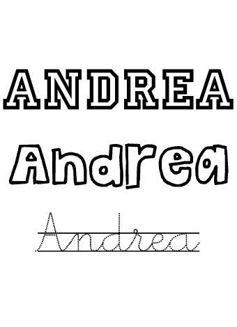 Andrea. Nombres para niñas