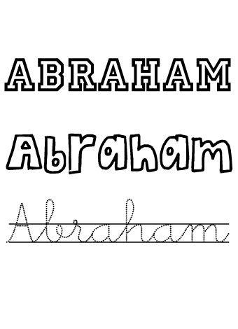 Abraham. Nombres para niños