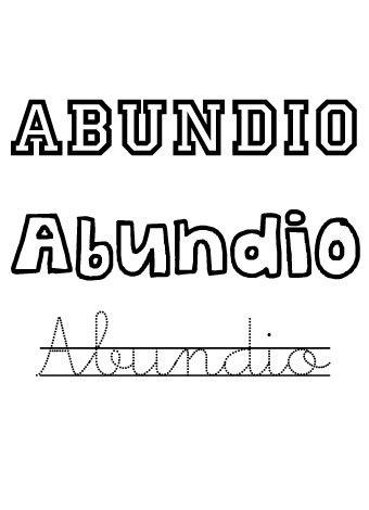 Abundio. Nombres para niños