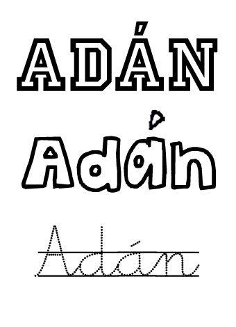 Adán. Nombres para niños