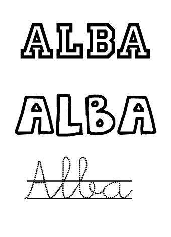 Alba. Nombres para niñas