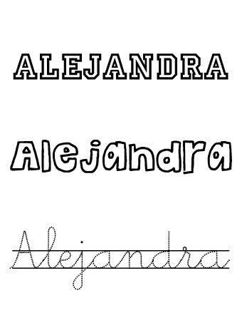 Alejandra. Nombre para niñas