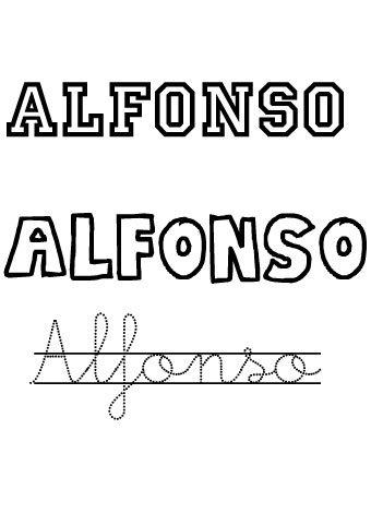 Alfonso. Nombres para niños