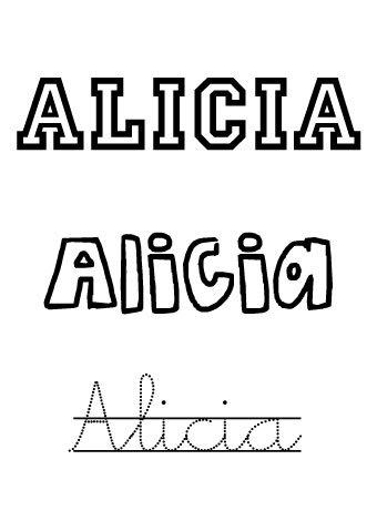 Alicia. Nombres para niñas