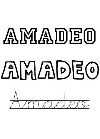 Amadeo. Nombres para niños