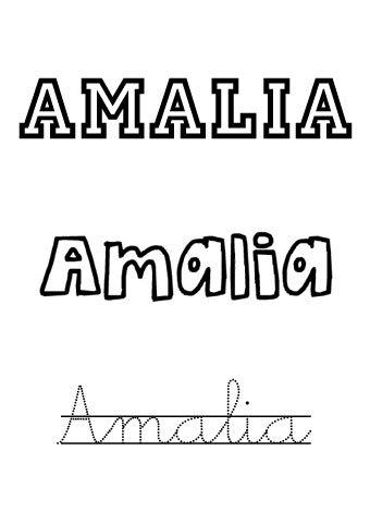 Amalia. Nombres para niñas