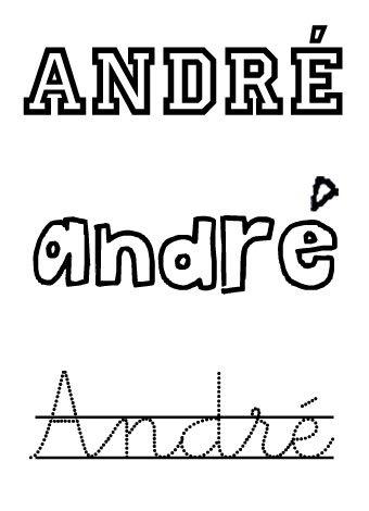 André. Nombres para niños