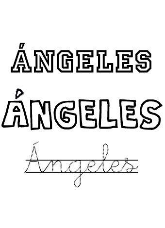 Angeles. Nombres para niñas