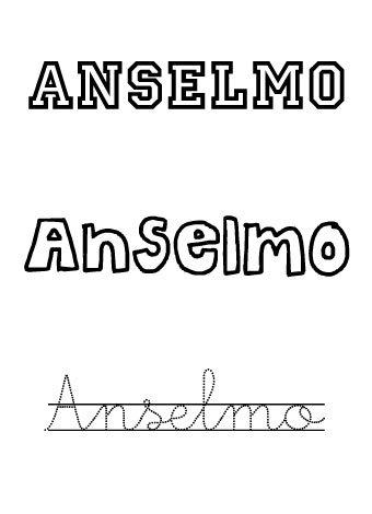 Anselmo. Nombres para niños