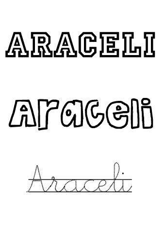 Nombres de niñas: Araceli
