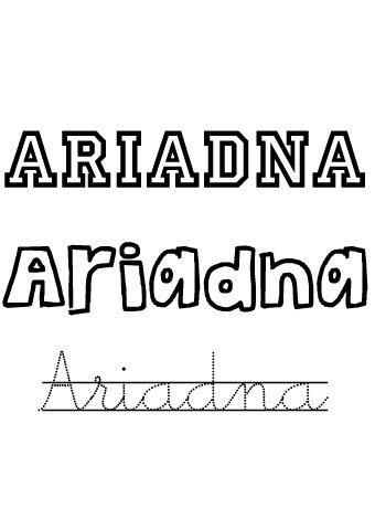 Ariadna. Nombres para niñas