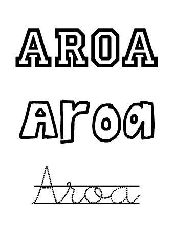 Aroa. Nombres para niñas