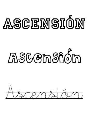 Ascensión. Nombres para niñas