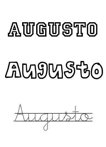 Augusto. Nombre para niños