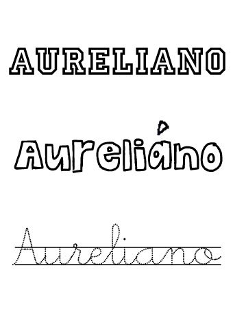Aureliano. Nombres para niños