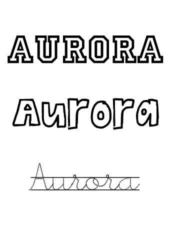 Aurora. Nombres para niñas