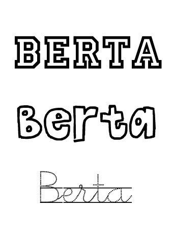 Berta. Nombres para niñas