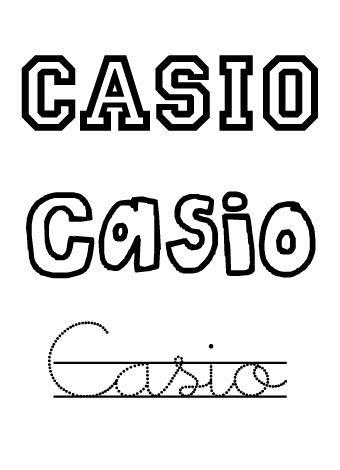 Casio. Nombres para niños