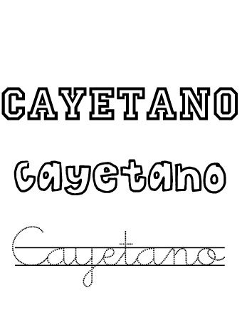Cayetano. Nombres para niños