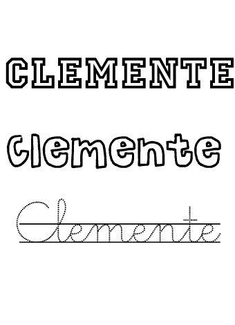 Clemente. Nombres para niños