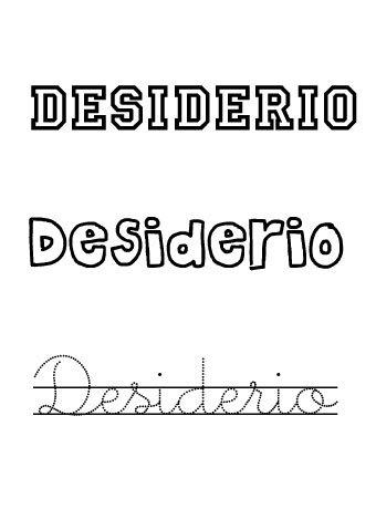 Desiderio. Nombres para niños