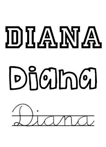 Diana. Nombres para niñas