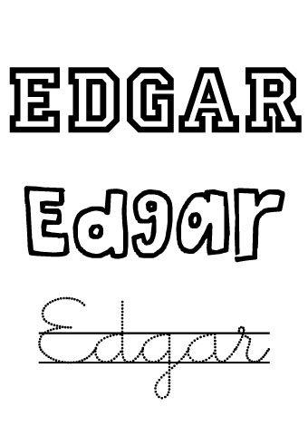 Edgar. Nombres para niños