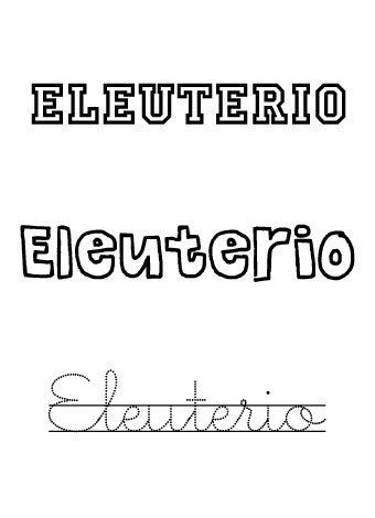 Eleuterio. Nombres para niños