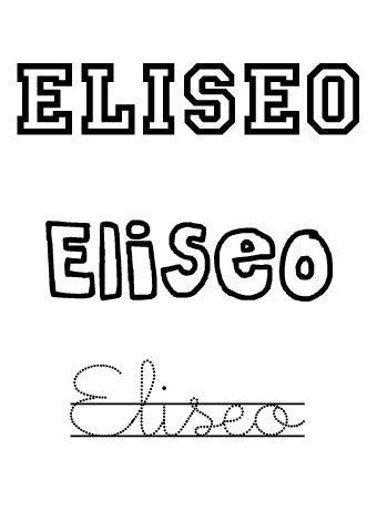 Eliseo. Nombres para niños