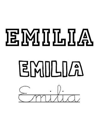 Emilia. Nombres para niñas