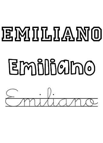 Emiliano. Nombres para niños