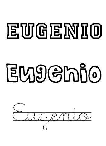 Eugenio. Nombres para niños