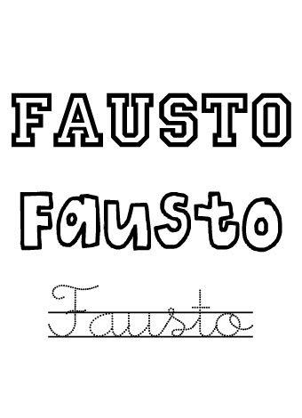 Fausto. Nombres para niños