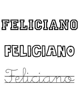 Feliciano. Nombres para niños