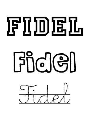Fidel. Nombres para niños
