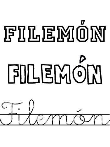 Filemón. Nombres para niños