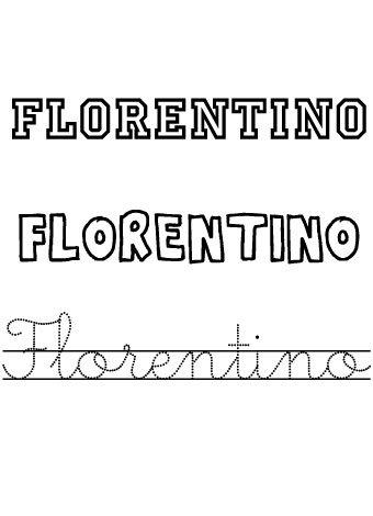 Florentino. Nombre para niño