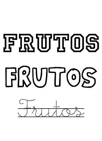Frutos. Nombres para niños