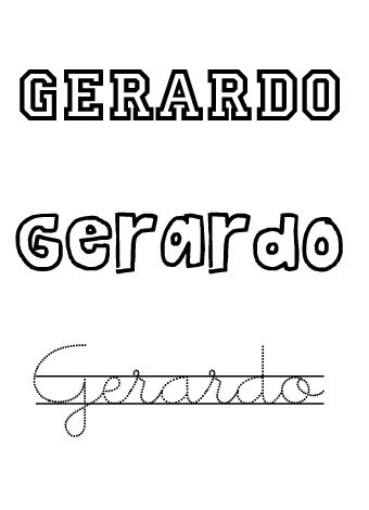 Gerardo. Nombres para niños