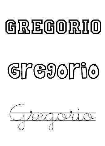 Nombre para niños. Gregorio