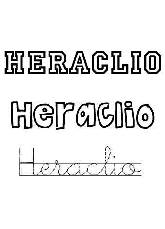 Heraclio. Nombres para niños