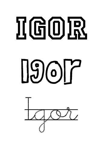 Igor. Nombres para niños
