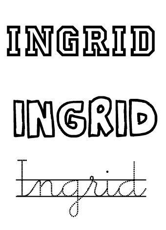 Ingrid. Nombres para niña