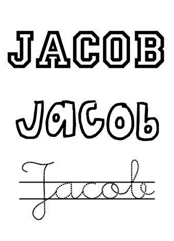 Jacob. Nombres para niños