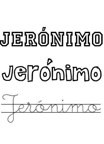Jerónimo. Nombres para niños