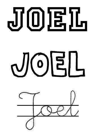 Joel. Nombres para niños